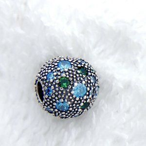 Authentic Pandora ALE Fancy Teal Cosmic Stars